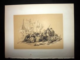 David Roberts Holy Land 1887 Print. Conference of Arabs